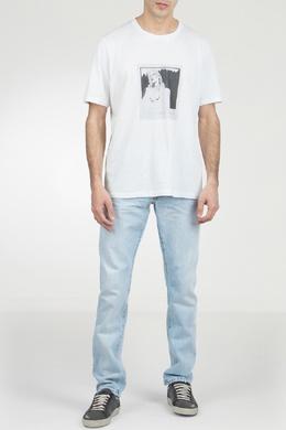 Белая футболка с принтом Saint Laurent 1531157032