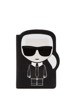 Черная обложка для паспорта с отделкой Karl Lagerfeld 682157067