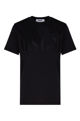 Черная футболка с черным логотипом MSGM 296156303