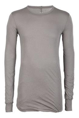 Коричневая футболка со швом на спине Rick Owens 43157095