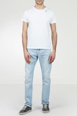 Белая футболка с маленьким рисунком Saint Laurent 1531157037