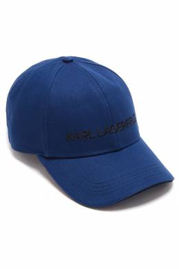 Синяя бейсболка с вышитым логотипом Karl Lagerfeld 682157056