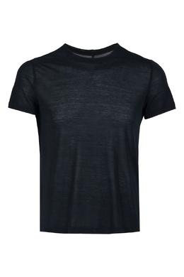 Черная футболка с декоративными швами Rick Owens 43157088