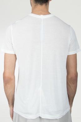 Белая футболка с декоративными швами Rick Owens 43157083