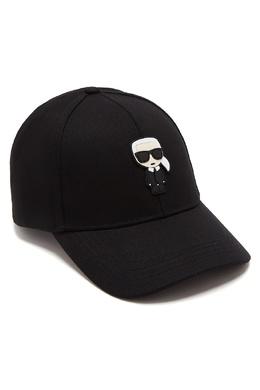 Черная бейсболка с фирменной аппликацией Karl Lagerfeld 682157074