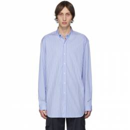 Vetements Blue and White Stripe Anarchy Shirt 192669M19200203GB