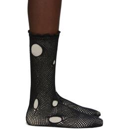 Yohji Yamamoto Black Holed Dot Socks 192573F07600101GB