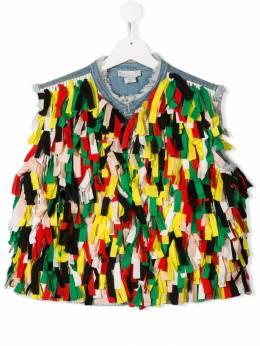 Stella McCartney Kids декорированный джинсовый жилет 566863SNK34