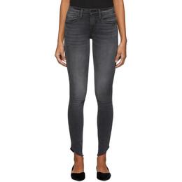 Frame Black Le Skinny De Jeanne Raw Edge Scoop Jeans 192455F06903804GB