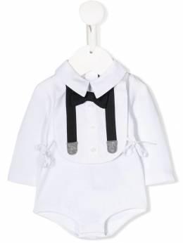 Dolce & Gabbana Kids декорированное боди с завязками L1UG54FUGFN