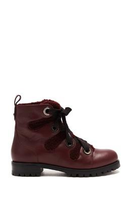 Бордовые комбинированные ботинки Bei Jimmy Choo 25157252