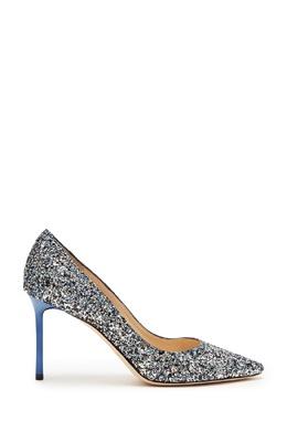 Туфли с разноцветным глиттером Romy 85 Jimmy Choo 25157238