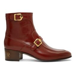 Gucci Red Ebal Boots 585856 D3V00