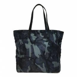 Prada Navy Camouflage Nylon Tote Bag 218268