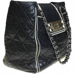 Chanel Black Quilted Leather Tote Bag 233621