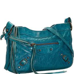 Balenciaga Blue Leather Classic Hip Crossbody Bag