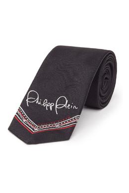 Красно-бело-черный жаккардовый галстук Philipp Plein 1795157992