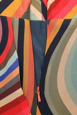 Шелковая юбка-миди с узором и складками Paul Smith 1924157399