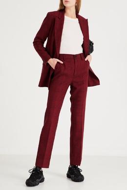 Костюмные брюки бордового цвета Ganni 2979157786