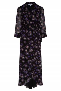 Платье из вискозы с цветами Ganni 2979157787