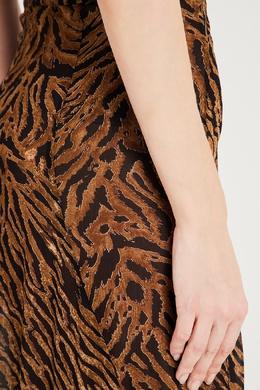 Длинная юбка с животным принтом Ganni 2979157796