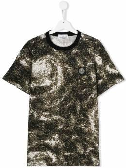 Stone Island Junior футболка с принтом MO711622058