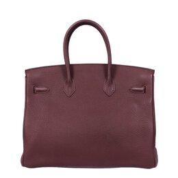 Hermes Brown Taurillon Clemence Birkin 35 Bag 234902