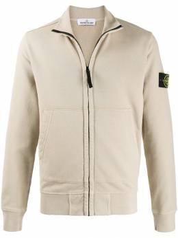 Stone Island куртка на молнии с вышитым логотипом MO711561620