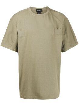Stone Island Shadow Project - футболка с отделкой в рубчик 99906599955835090000