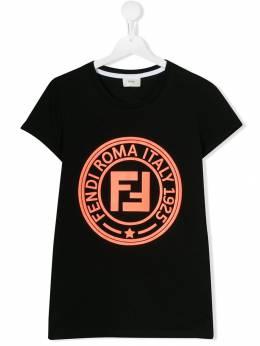 Fendi Kids - футболка с логотипом FF 9653AJT9553690300000