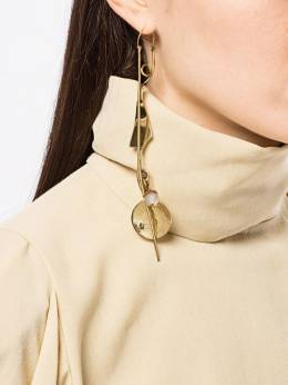 Ellery - асимметричные серьги с жемчугом 009GLD95099353000000