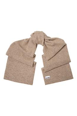 Бежевый шарф в рубчик Ganni 2979157801