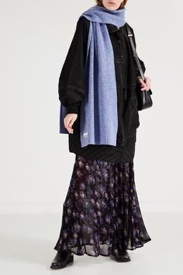 Фиолетовый шерстяной шарф Ganni 2979157800