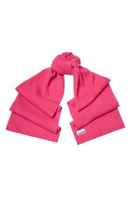 Шарф ярко-розового цвета Ganni 2979157802