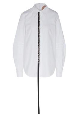 Рубашка с контрастной асимметричной деталью No. 21 35157724