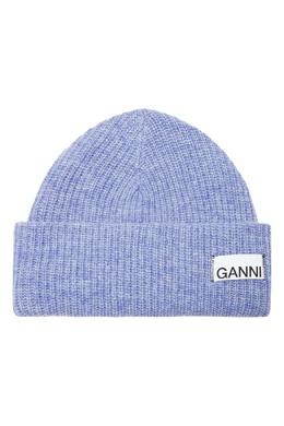 Сиреневая шапка из шерсти Ganni 2979157797