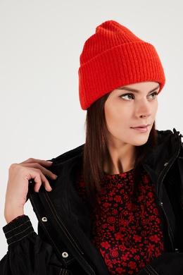Оранжевая шапка с логотипом Ganni 2979157791