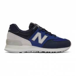 New Balance Blue and Navy 574 Core Sneakers 201402F12800610GB