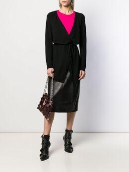 LIU JO - wrap-style tie-fastening cardigan 605MA99E955953390000