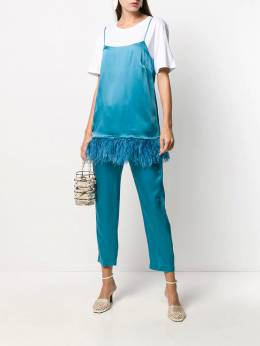 Semicouture - drawstring cropped trousers M6995596963000000000