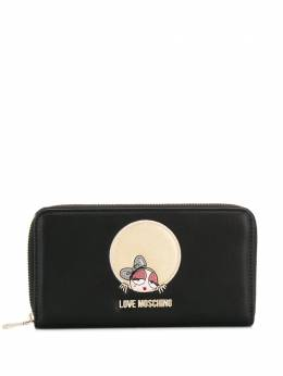 Love Moschino - logo zipped continental wallet 653PP68KQ69558965300