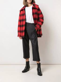 R13 - pinstripe cropped trousers W3309056955939830000