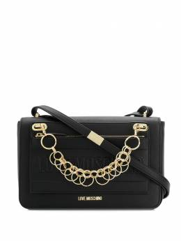Love Moschino - logo chain-detail shoulder bag 039PP68KE69558965600
