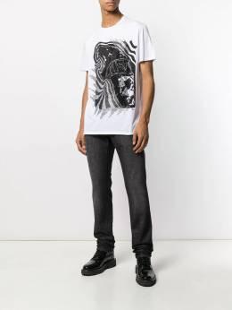 Just Cavalli декорированная футболка с графичным принтом S01GC0554N20663