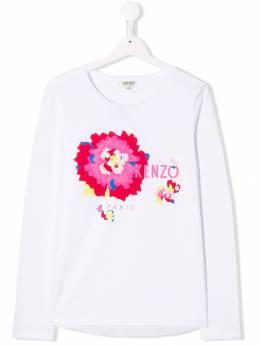 Kenzo Kids - футболка с цветочным принтом 66686995039998000000