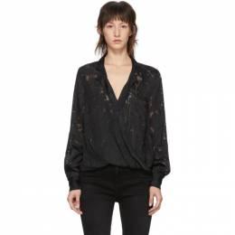 Rag&Bone Black Floral Dean Shirt 192055F10900702GB