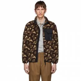 Burberry Brown Fleece Monogram Jacquard Jacket 192376M18001306GB