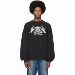 R13 Black Bearhead Crest Sweatshirt 192021M20400502GB
