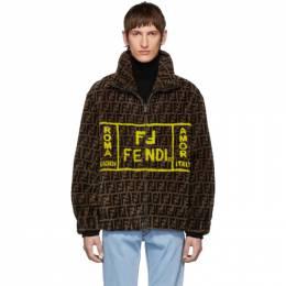 Fendi Brown Shearling Forever Fendi Jacket 192693M17900102GB