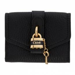 Chloe Black Mini Aby Square Lock Wallet 192338F04003801GB